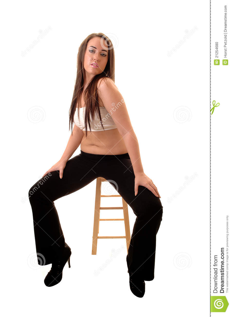 Girl Sitting On Chair Stock Photo Image Of Beautiful