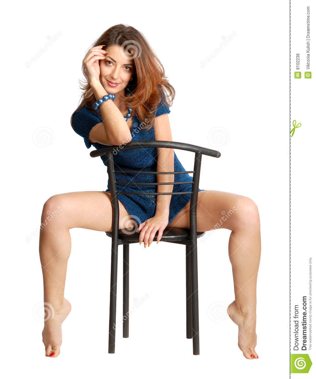 Royalty Free Stock Image Girl Sitting On Chair