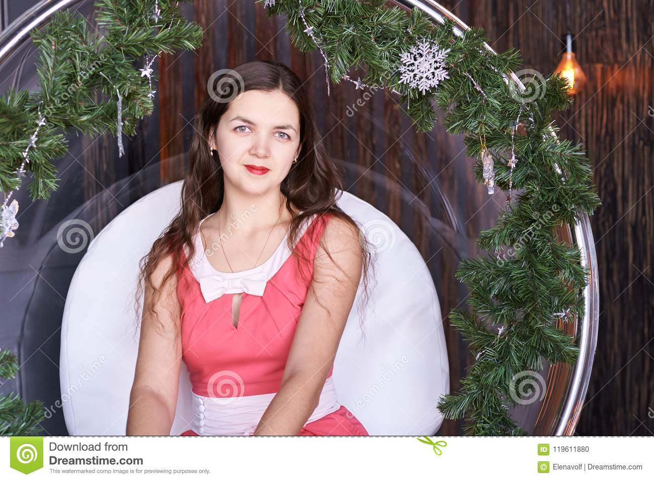 girl sitting on fir chair stock photo image of home 119611880