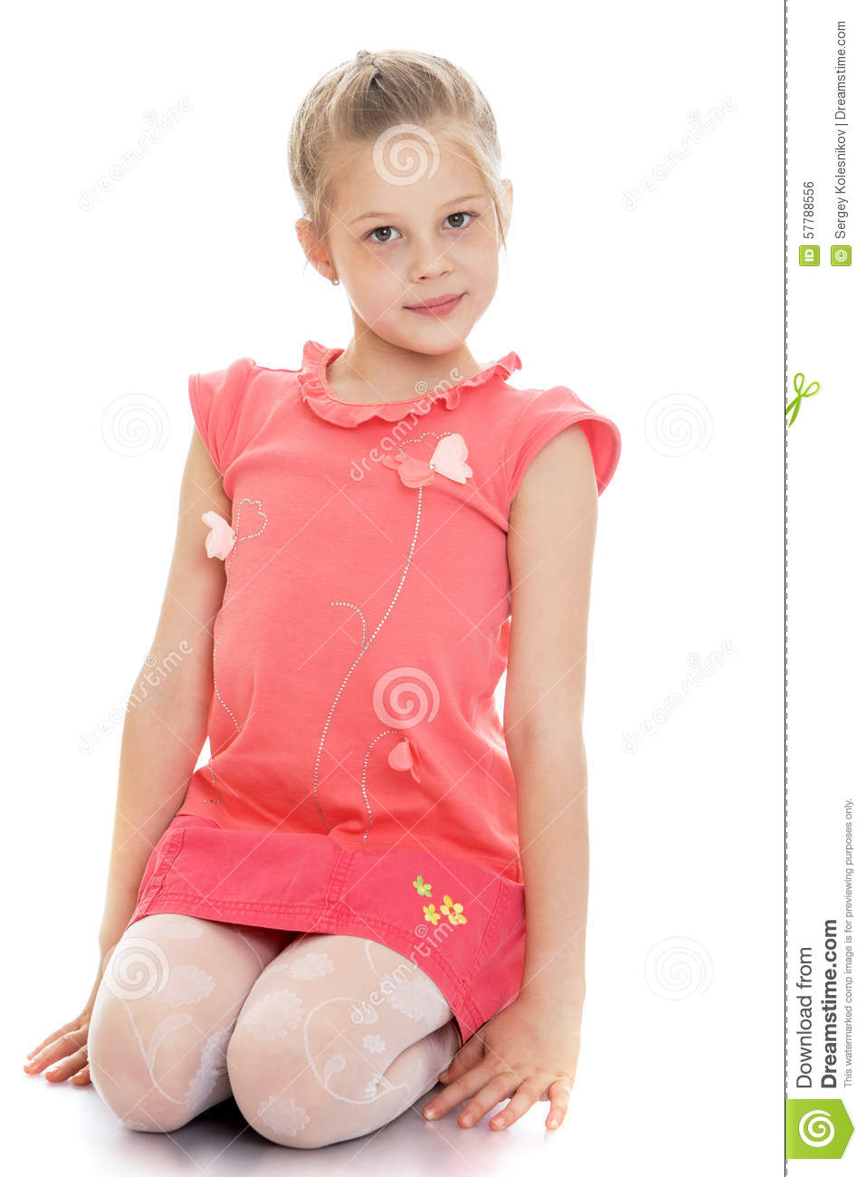 Girl sitting on the floor stock photo image 57788556 for On the floor