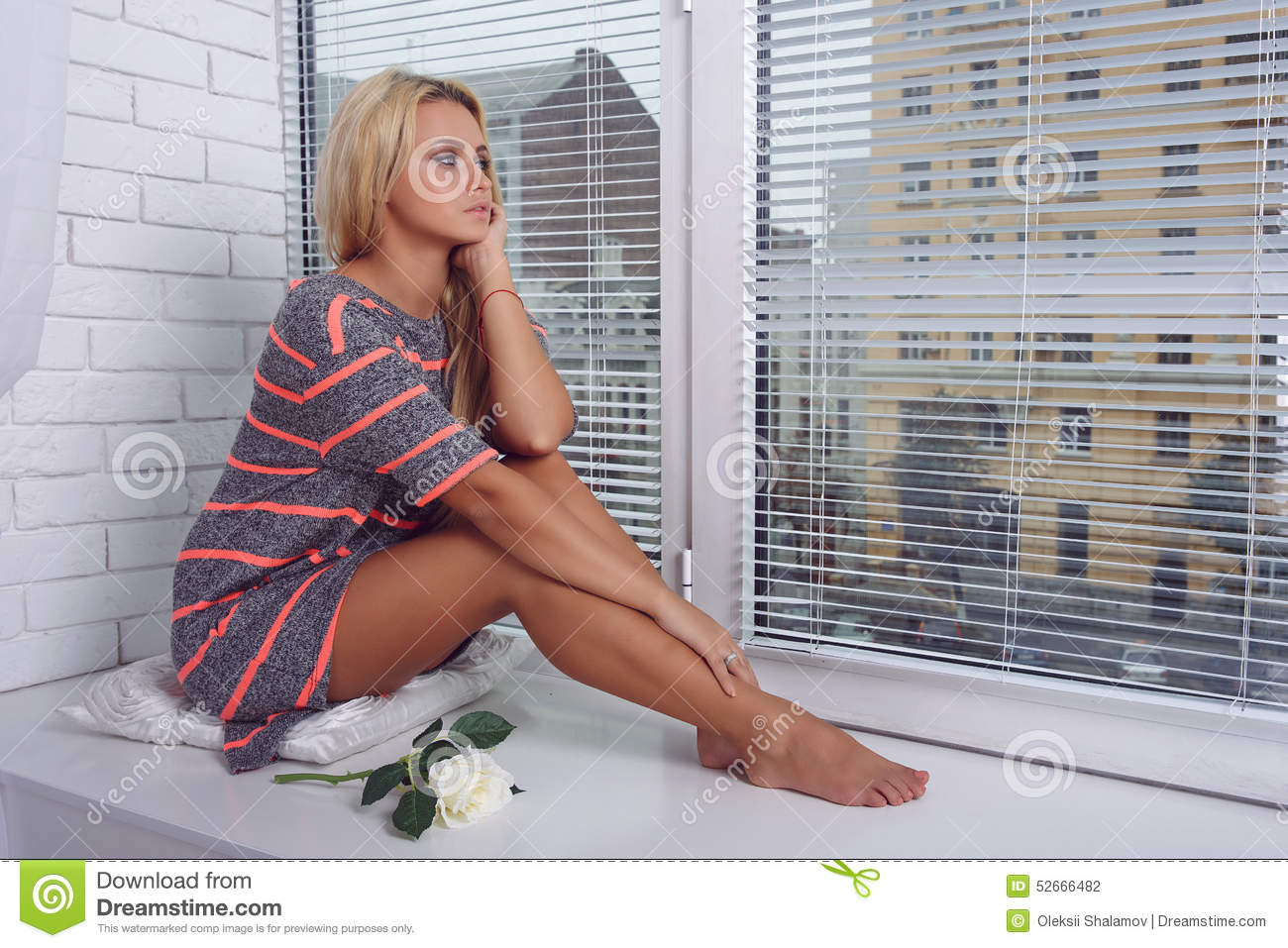 https://thumbs.dreamstime.com/z/girl-sitting-near-window-thought-blond-which-can-see-city-52666482.jpg