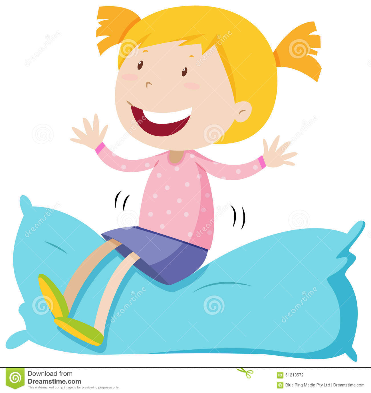 Girl With Pillow Clip Art Cliparts