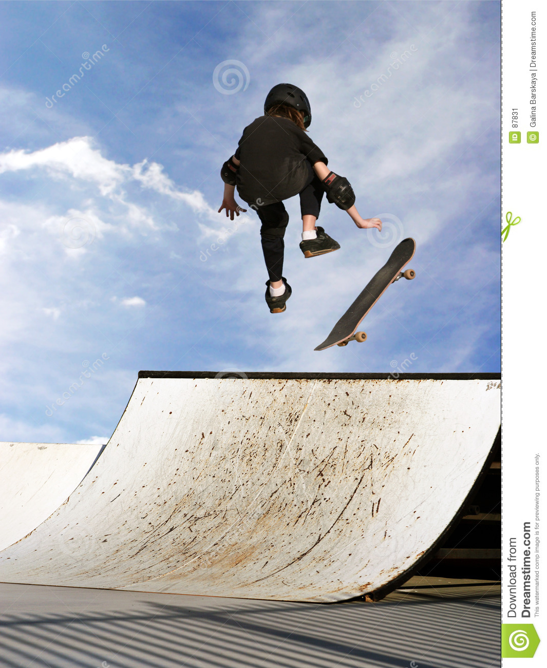 girl skateboarding stock image image of expression