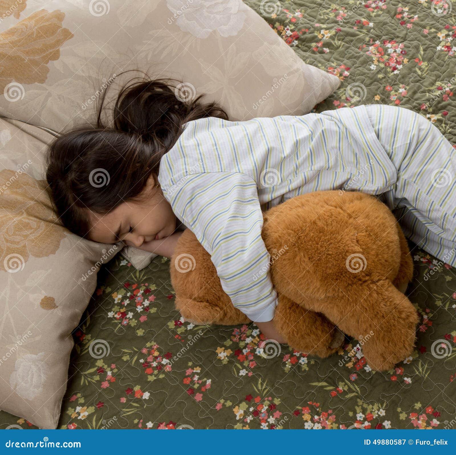 girl sleeping teddy bear stock images 1 189 photos