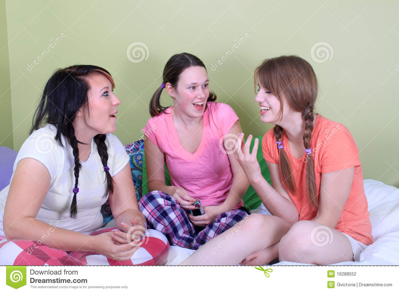 Girl Sleepover Stock Photography Image 16288552