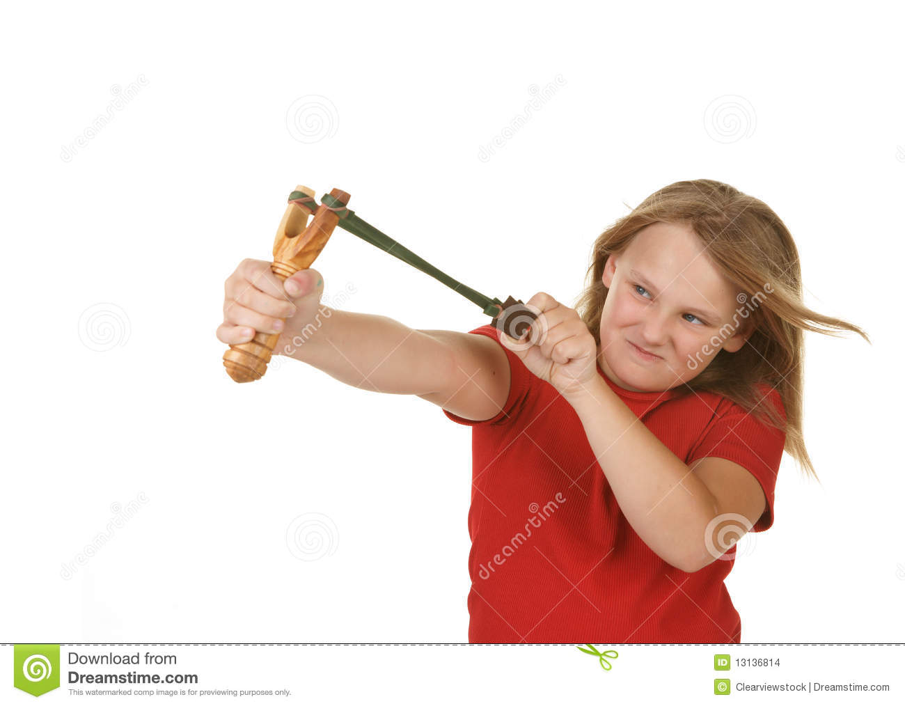 Girls with slingshots