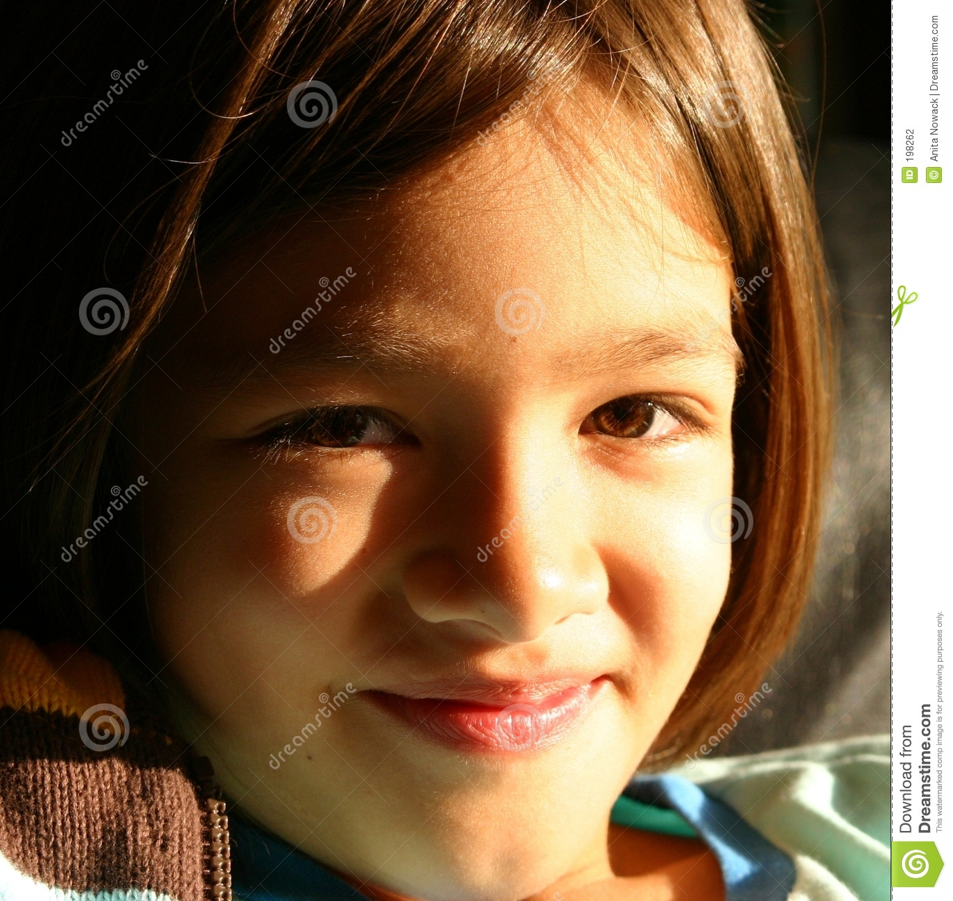 Girl smiling to a brighter future