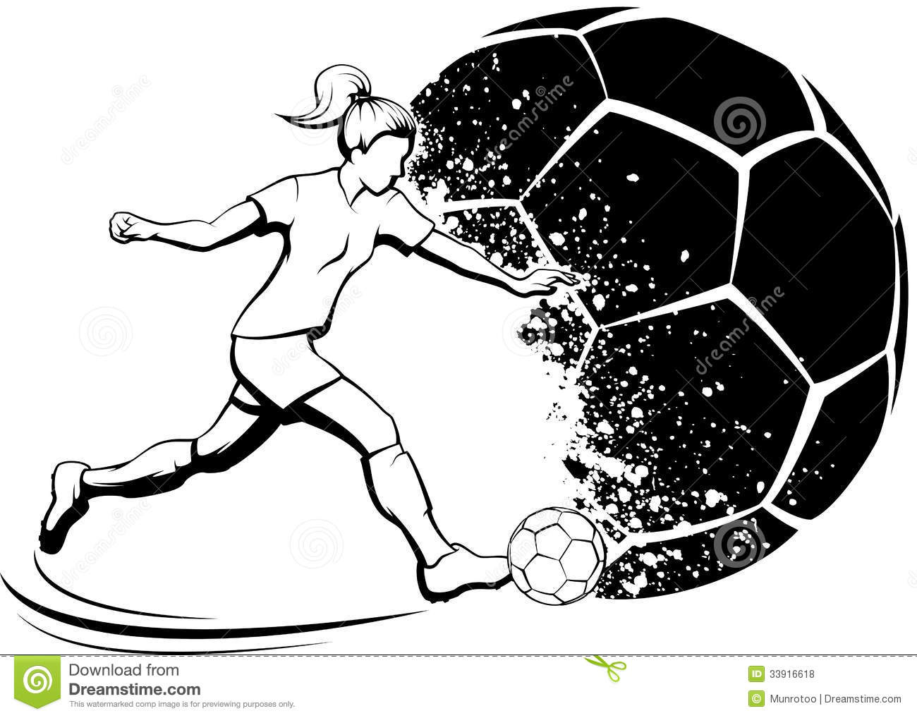 It's just a graphic of Satisfactory Girl Playing Soccer Drawing