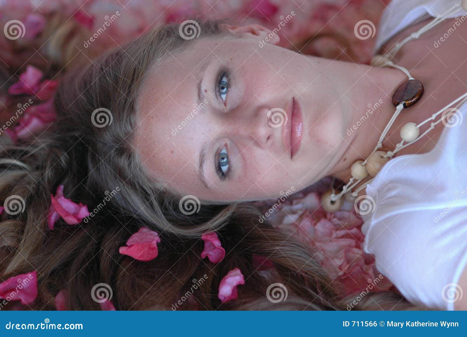 Girl in springtime/spa