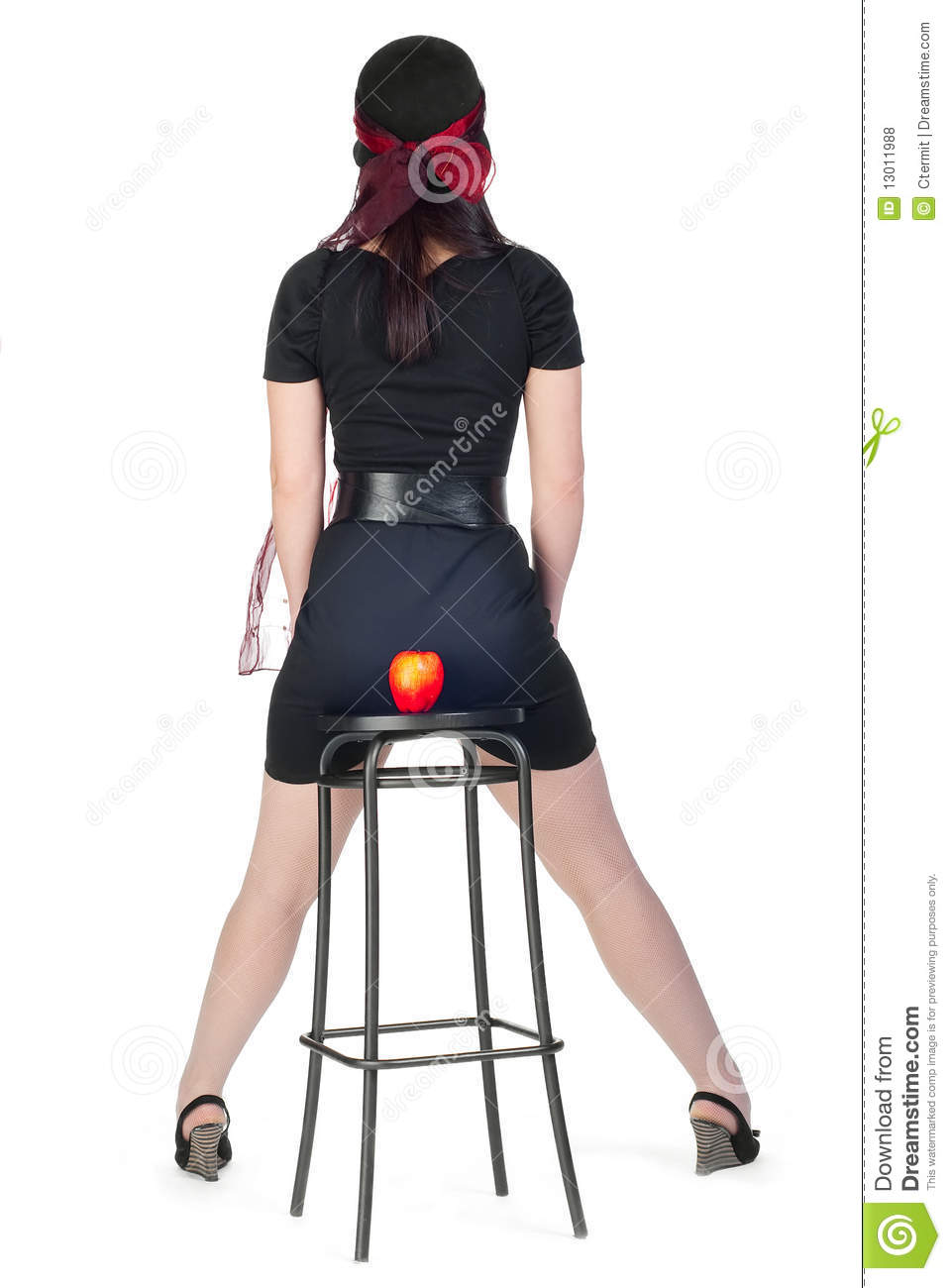 Girl On Stool Stock Photo Image Of Beauty Belt Stool