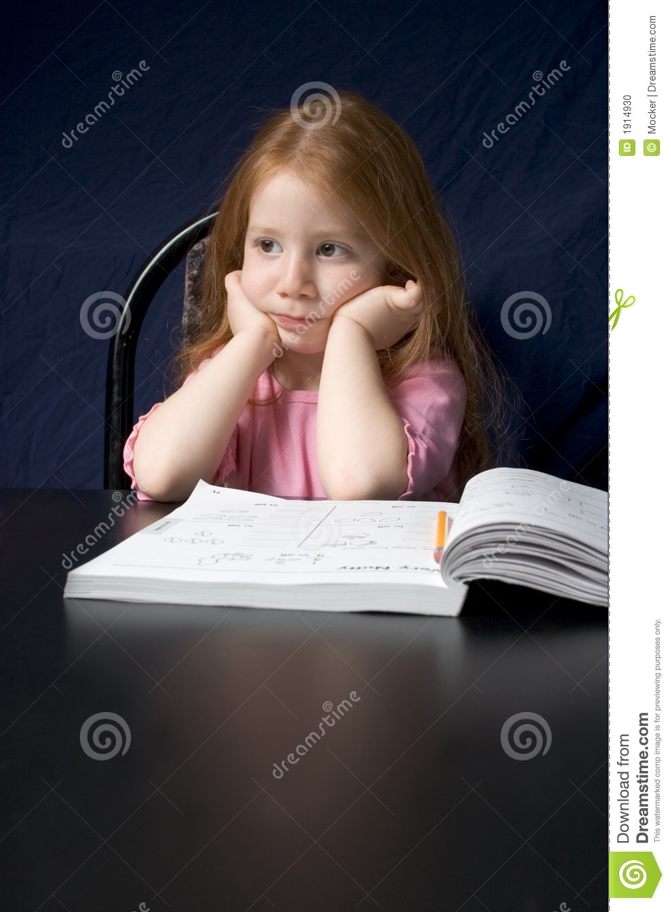 Girl with study book