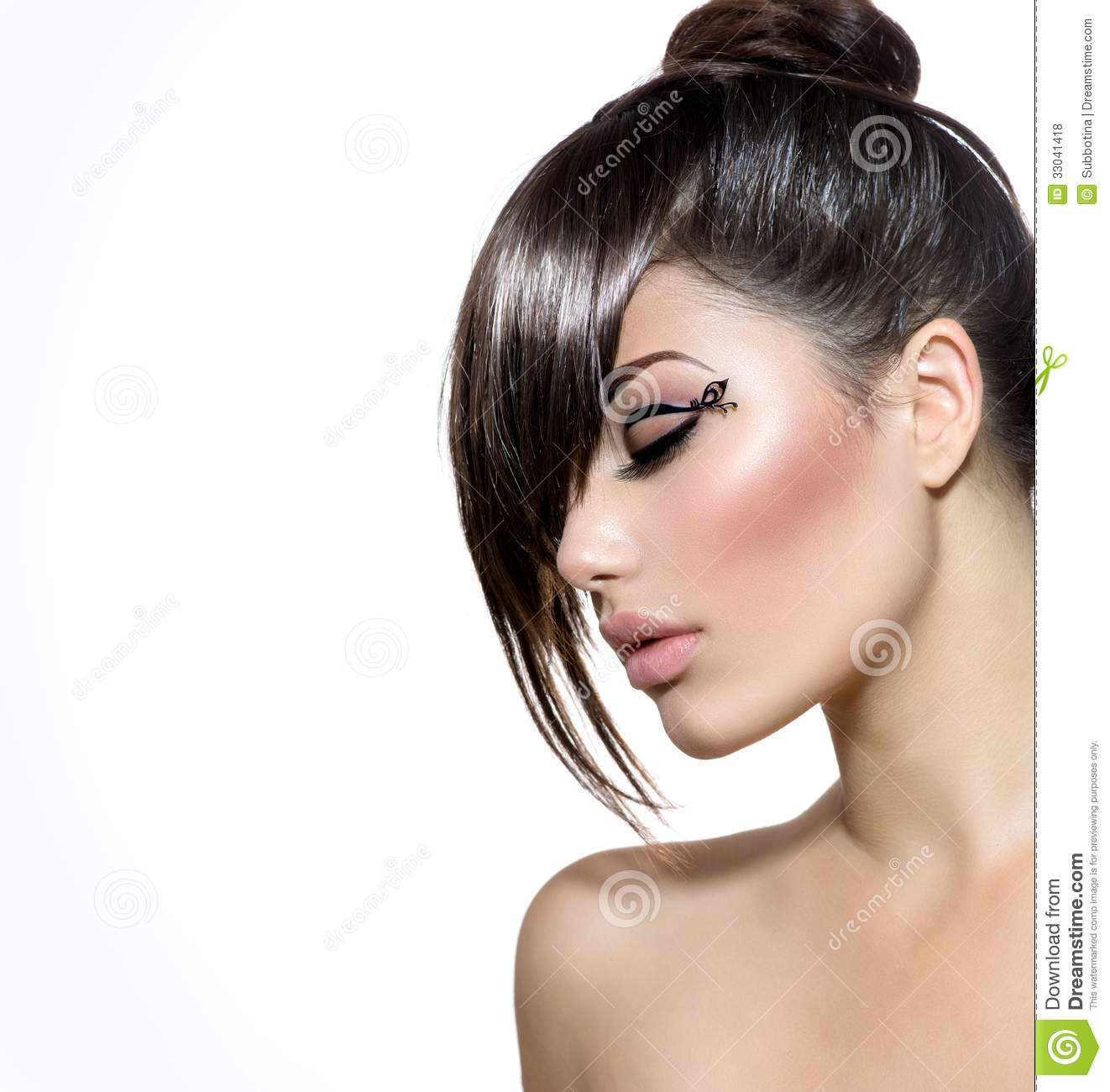 makeup and hair style with stylish hairstyle royalty free stock photos 5269