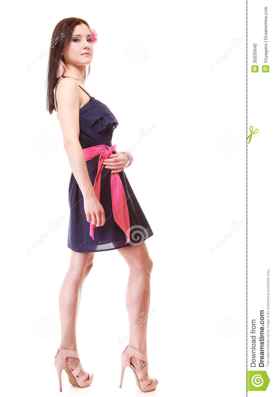 Girl In Summer Style Fashion Photo Isolated Stock Photo Image 35030940