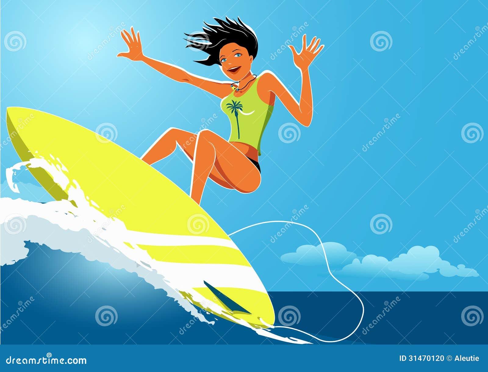 Surfer girls ball kicking
