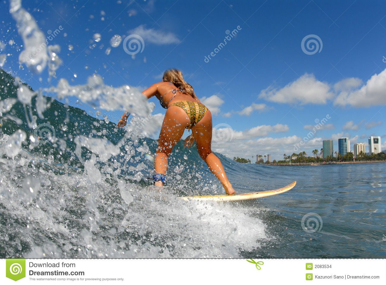 A Girl Surfing Stock Photo Image Of Watersports Wave 2083534