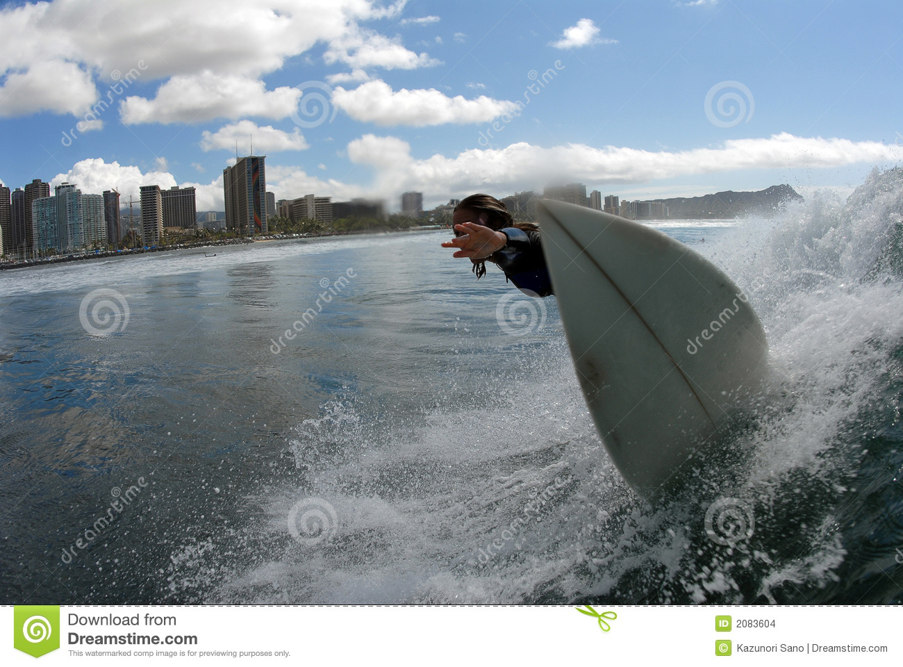 A Girl Surfing Stock Photo Image Of Wave Surf Wipeout 2083604
