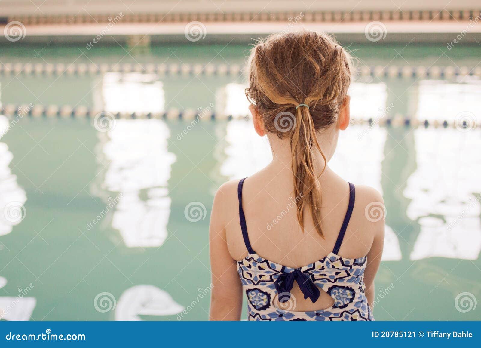 Girl at swim class