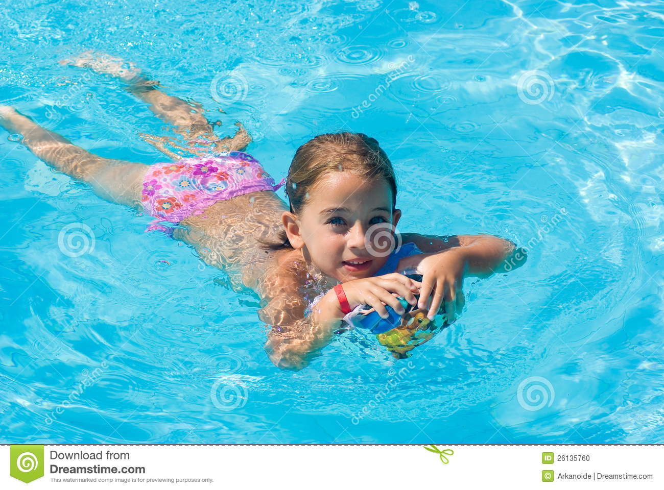 Girl in swimming pool stock photo image of beautiful 26135760 for Wetherby swimming pool swim times
