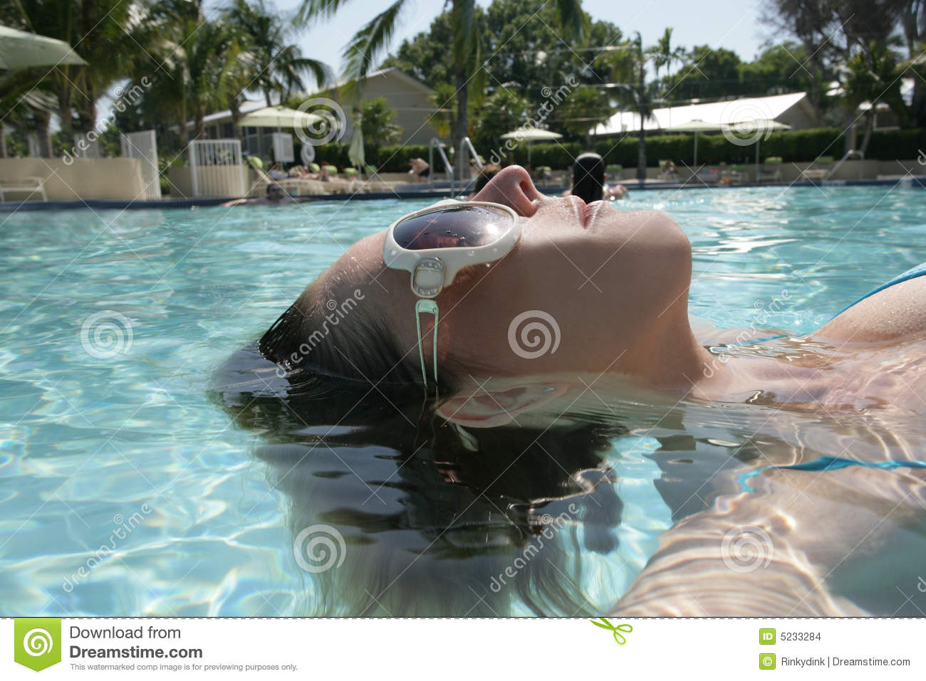 Girl swimming in pool stock images image 5233284 for Negative show pool horse racing