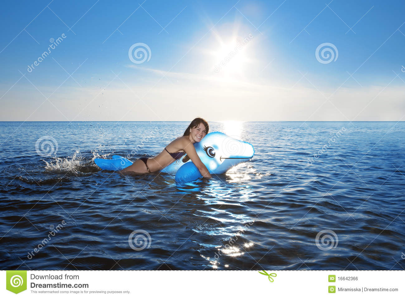 Girl swims in the sea stock photo. Image of girl cb9da701974