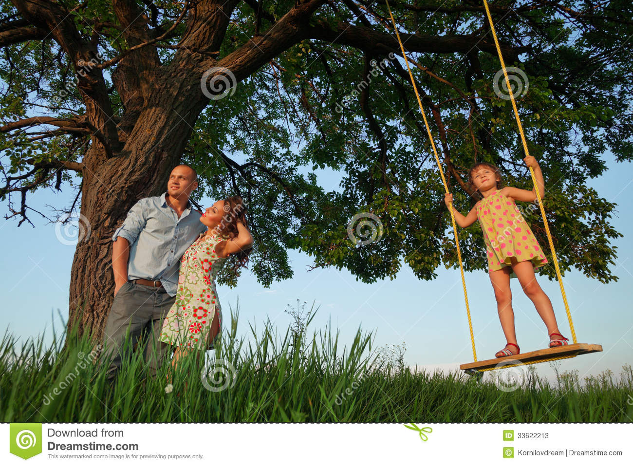 Girl On The Swing Stock Photos - Image: 33622213