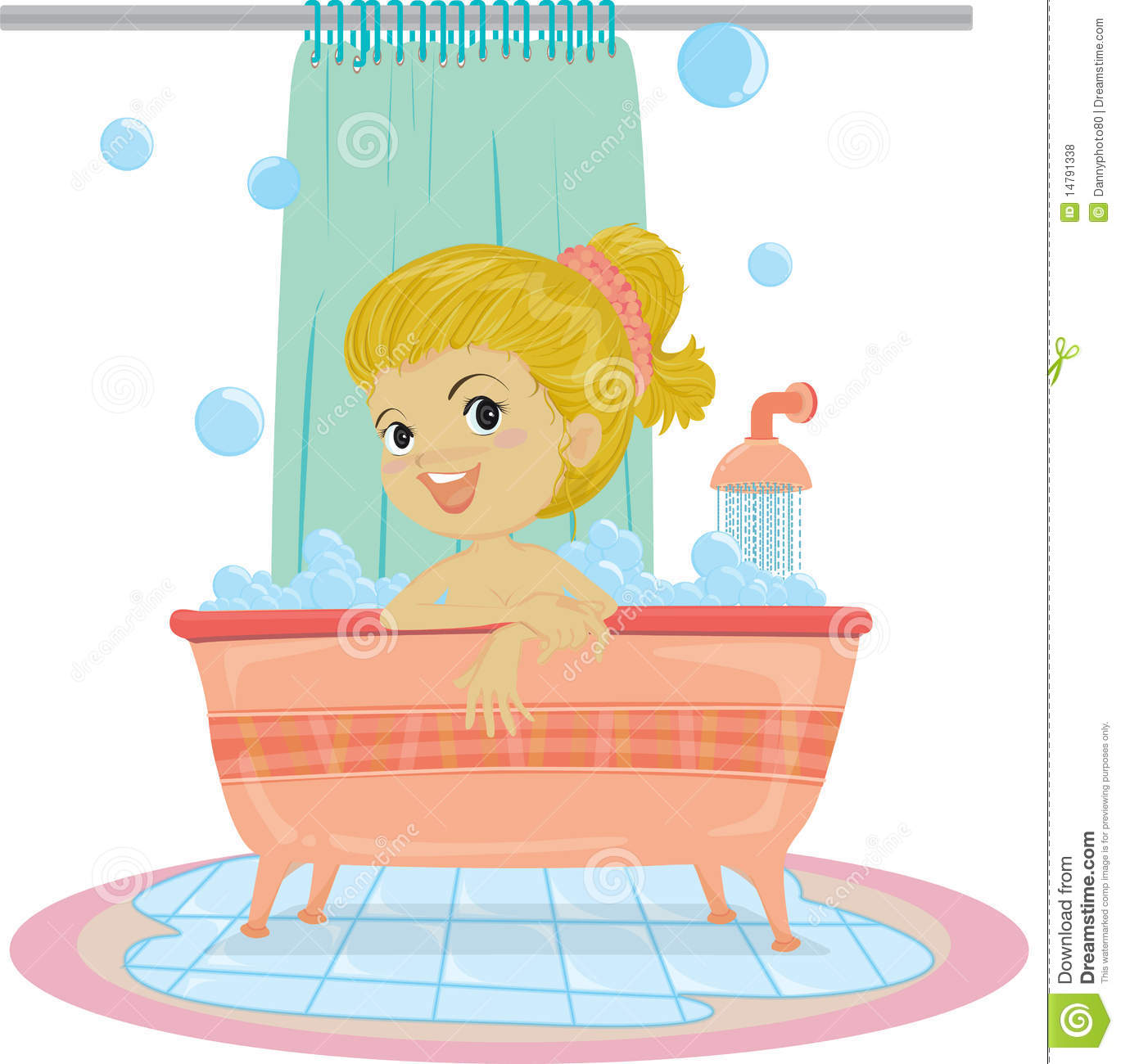 A Girl Taking Bath Royalty Free Stock Photos - Image: 14791338