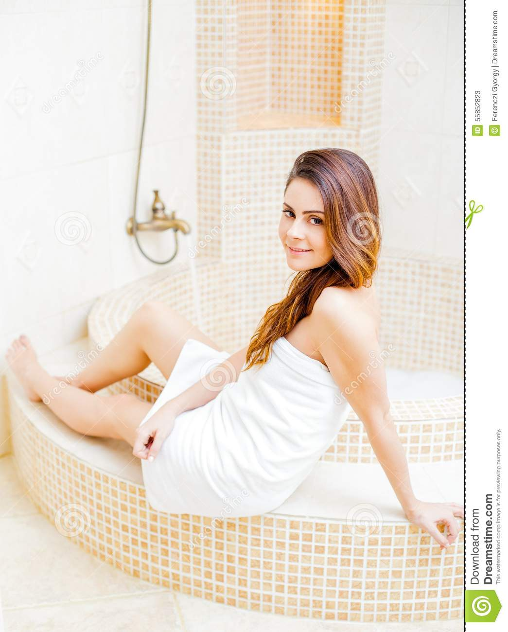 girl taking a bath stock image. image of happy, relaxation - 55852823