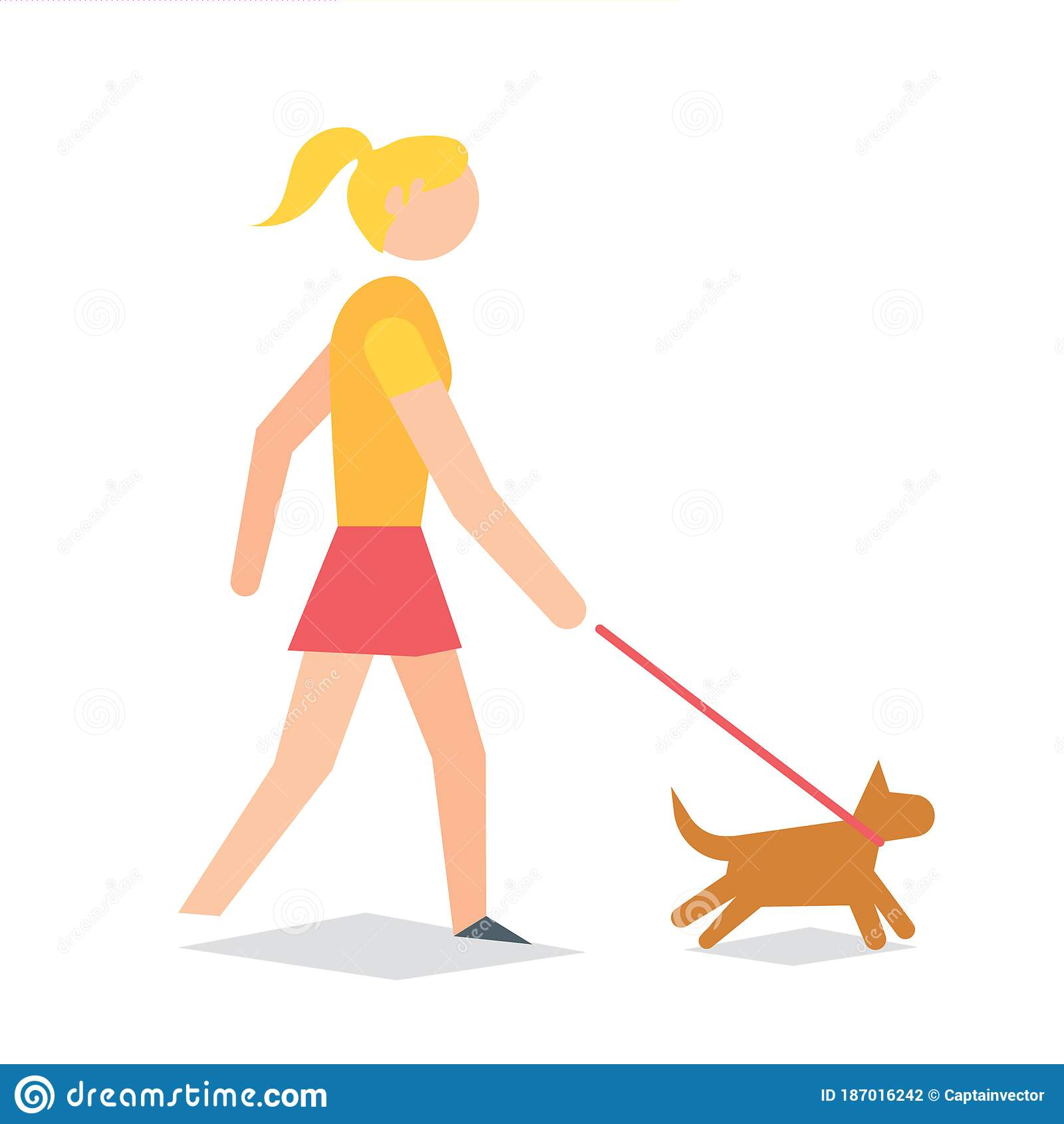 girl taking dog for walk vector illustration decorative design stock vector illustration of figures character 187016242 girl taking dog for walk vector illustration decorative design stock vector illustration of figures character 187016242
