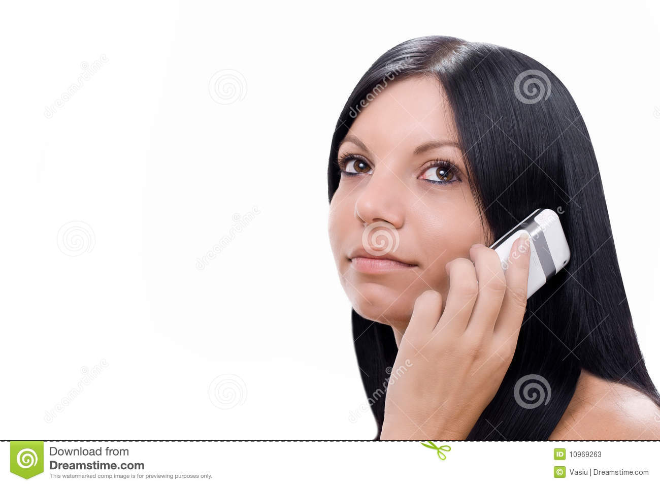 Girl Talking At The Cell Phone Stock Photos - Image: 10969263