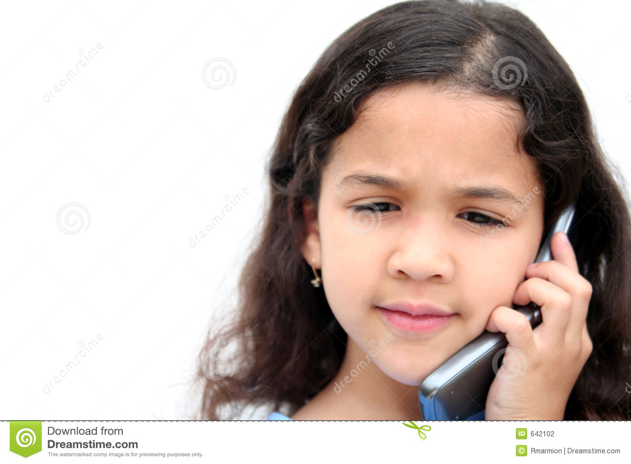 Girl Talking On Cell Phone stock photo. Image of children ...