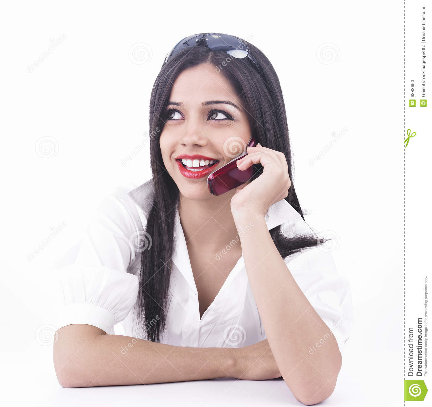 girl talking on the cell phone stock photos   image 6888653