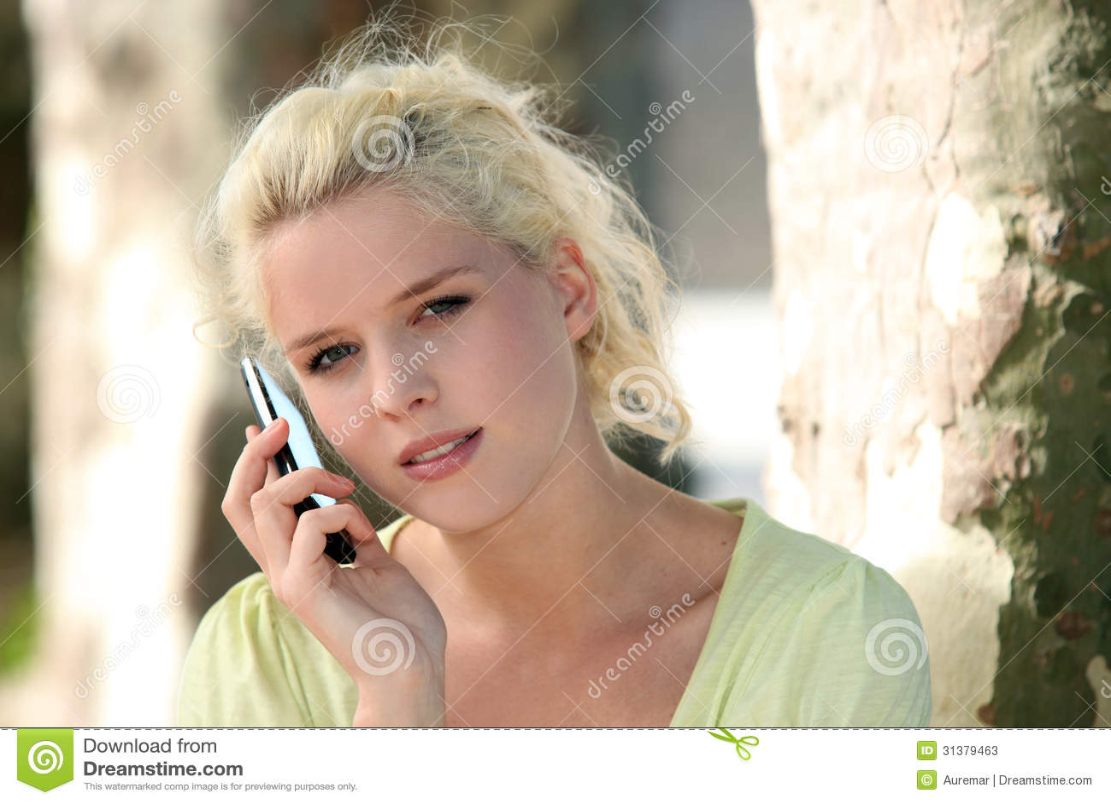 Girl talking on the phone stock image  Image of boyfriend