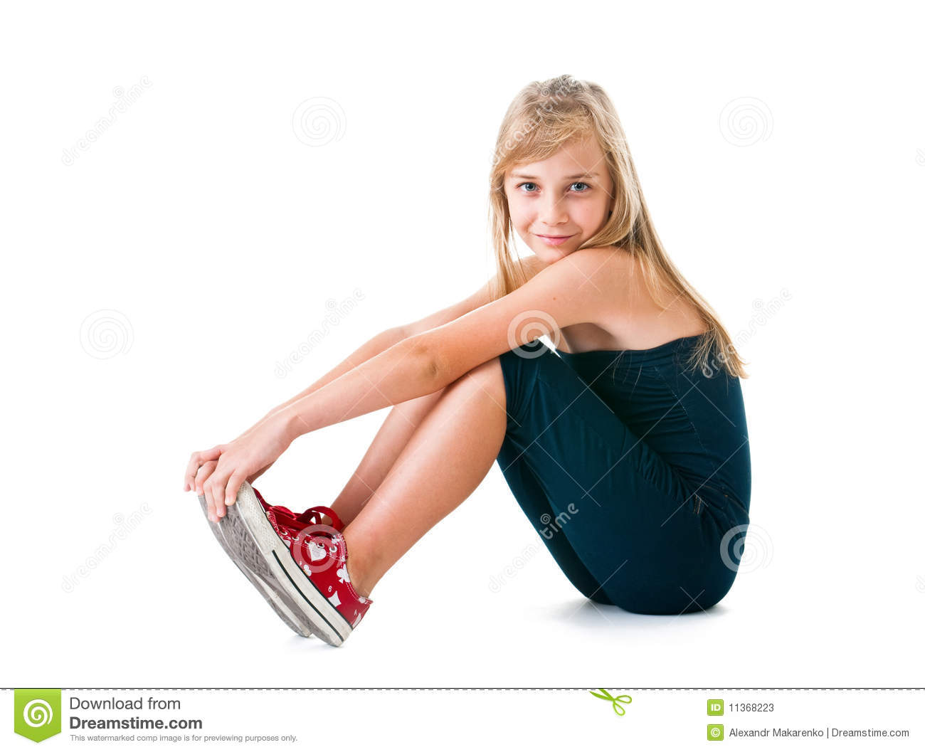 The Girl The Teenager On A White Background. Stock Photos ...