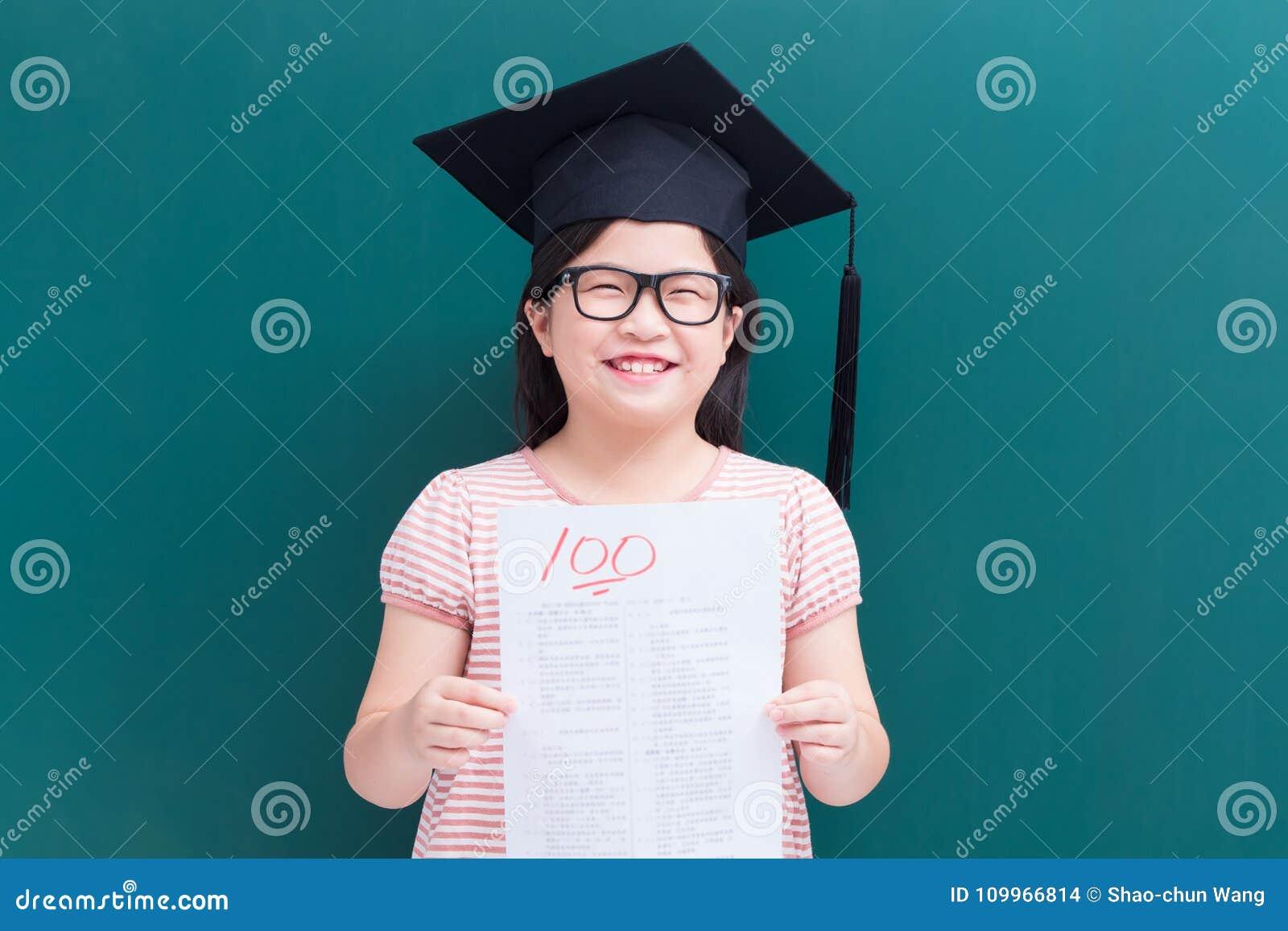 Girl test with full score