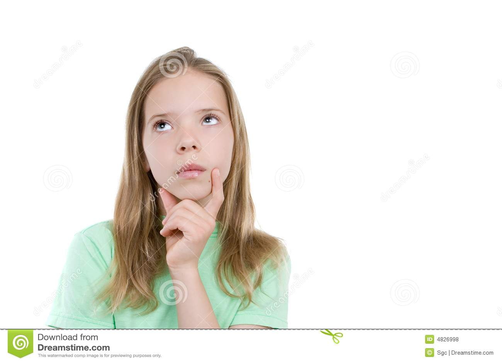 Girl Thinking Royalty Free Stock Photos - Image: 4826998