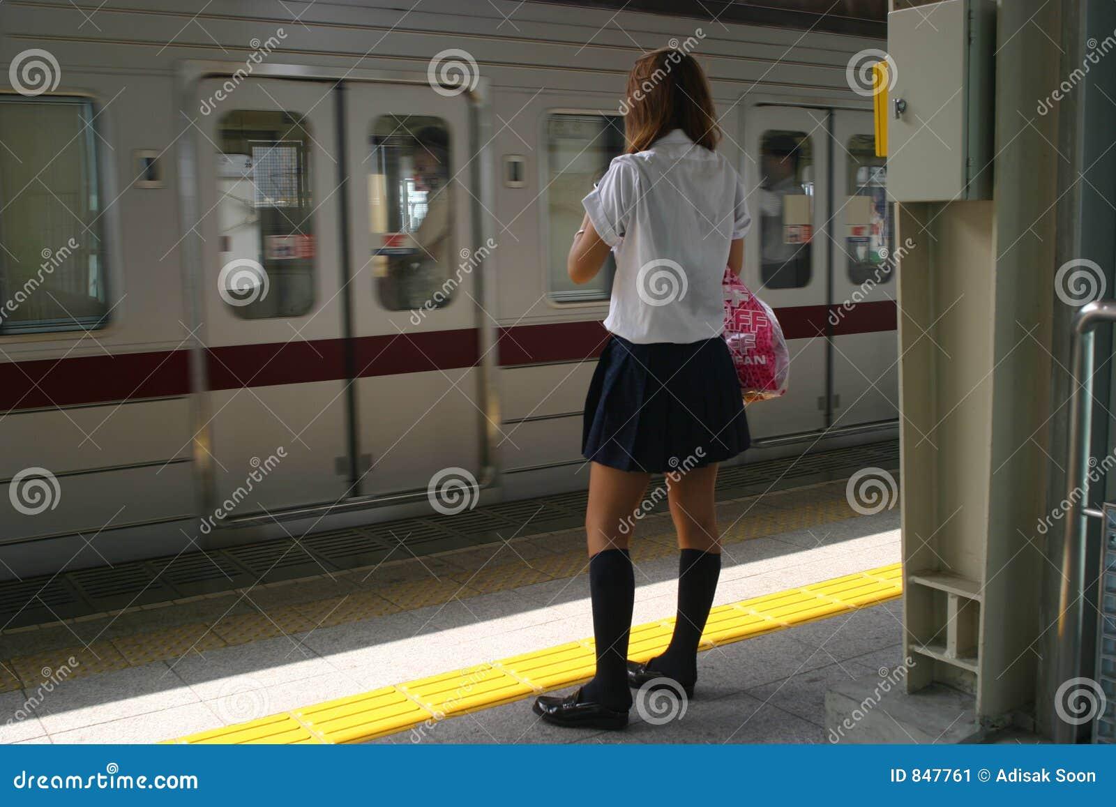 Girl at Tokyo train station