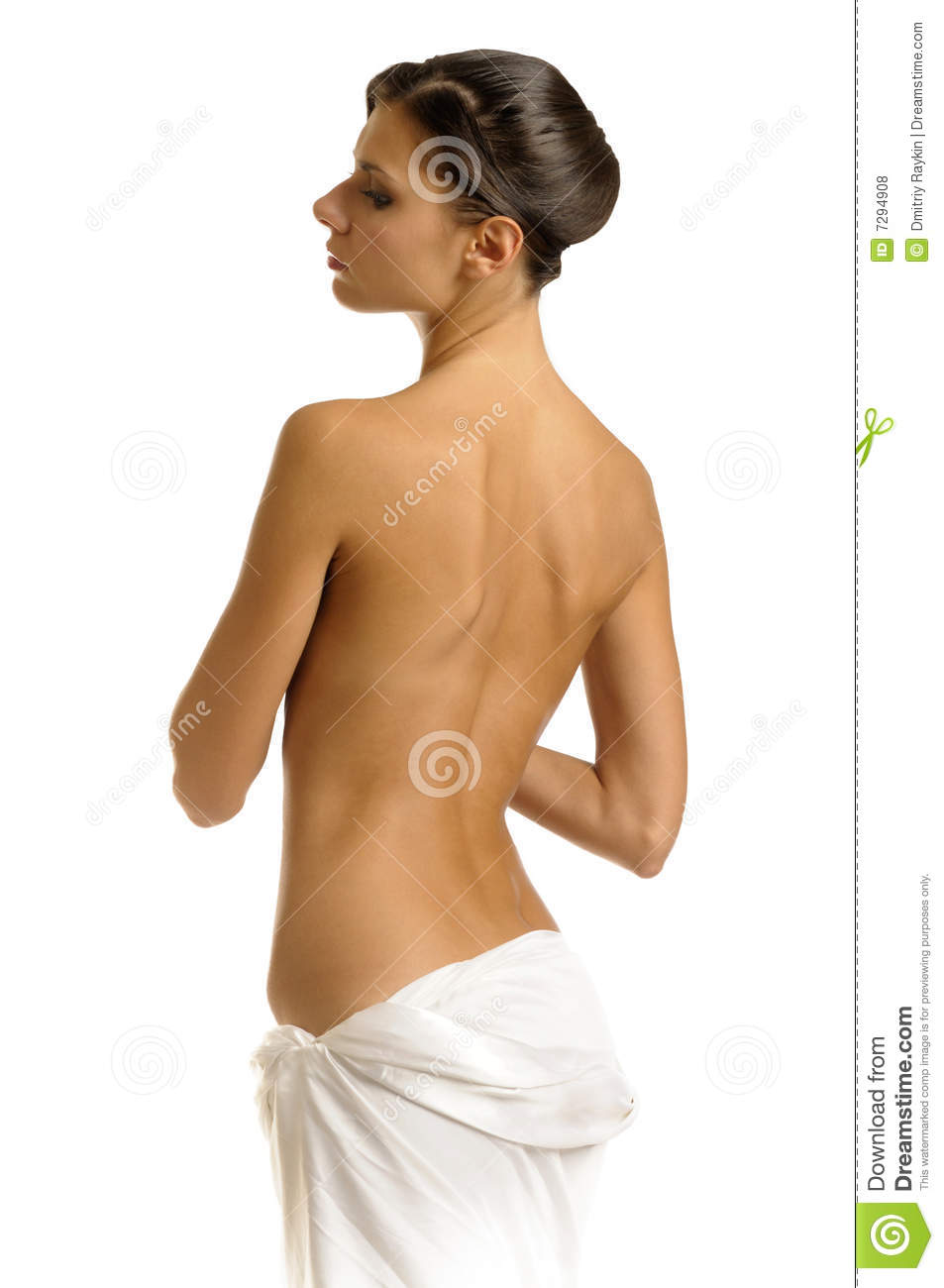 The girl in towel with naked back