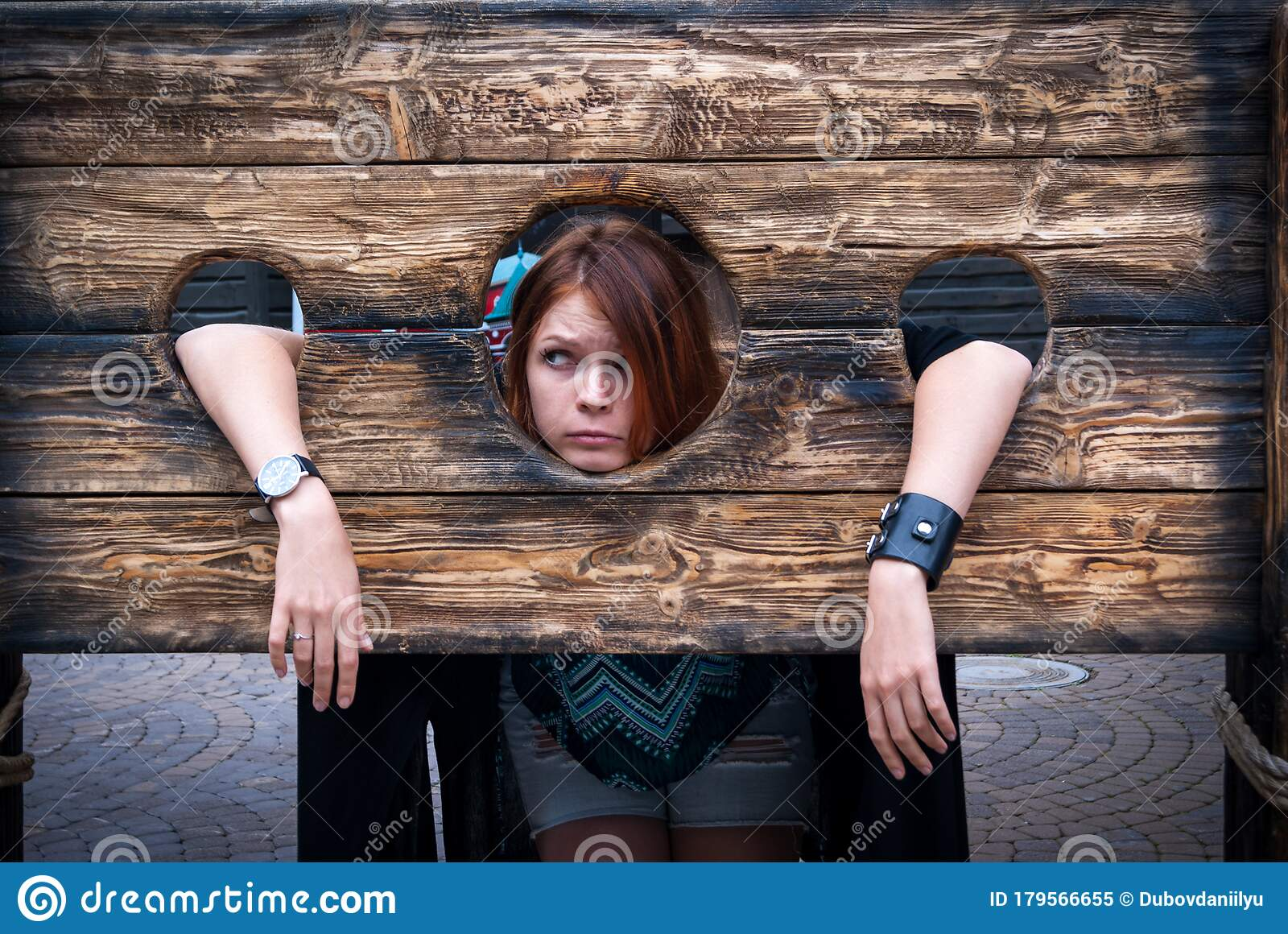 Chained Brunette Teen