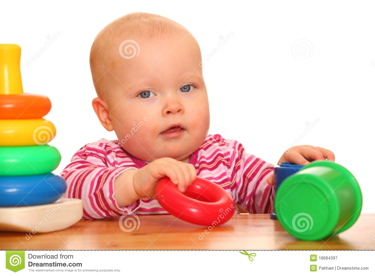 girl with toys stock image image of baby playing childhood 18684397. Black Bedroom Furniture Sets. Home Design Ideas