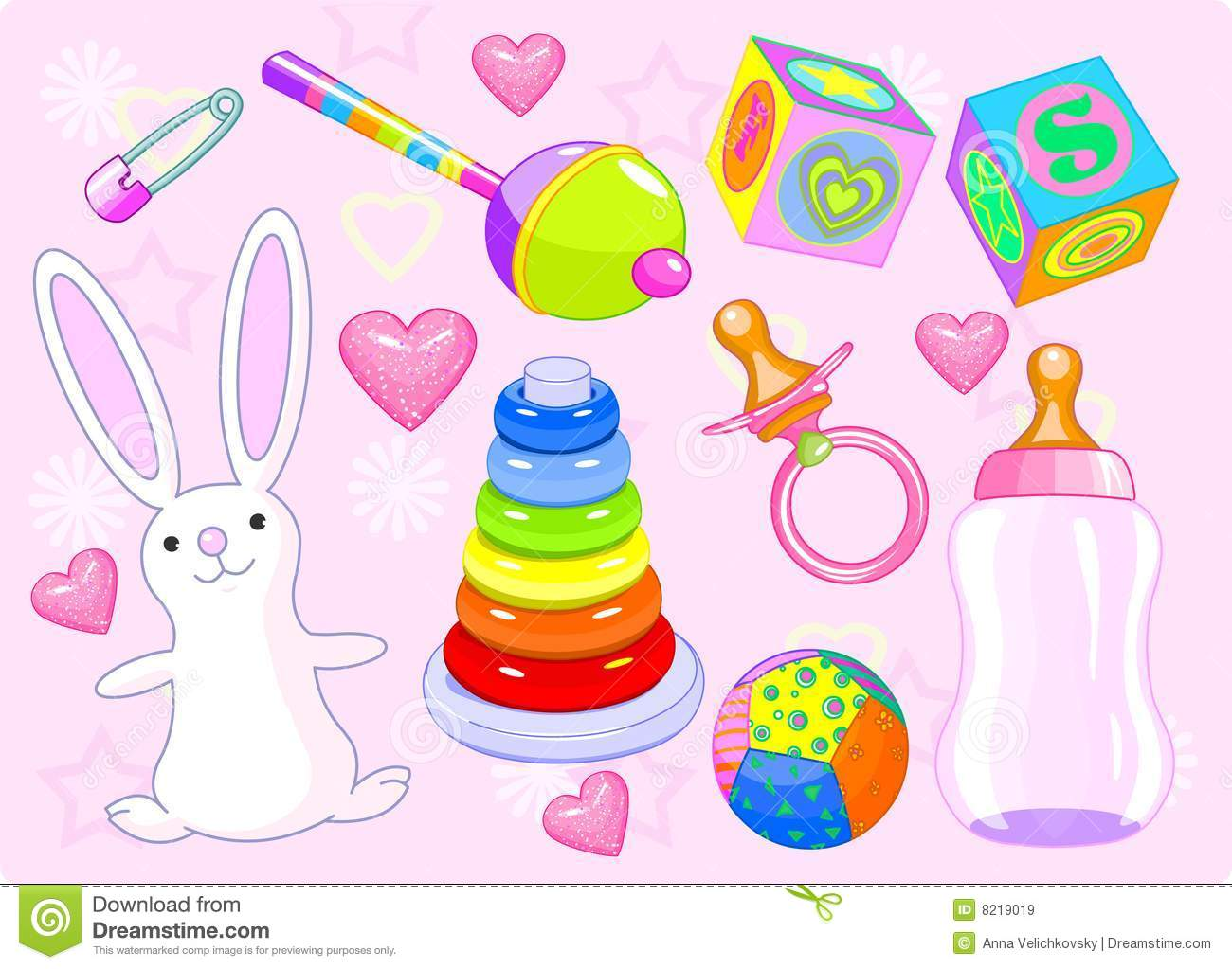 Girl Toys Clip Art : Girl toys royalty free stock images image
