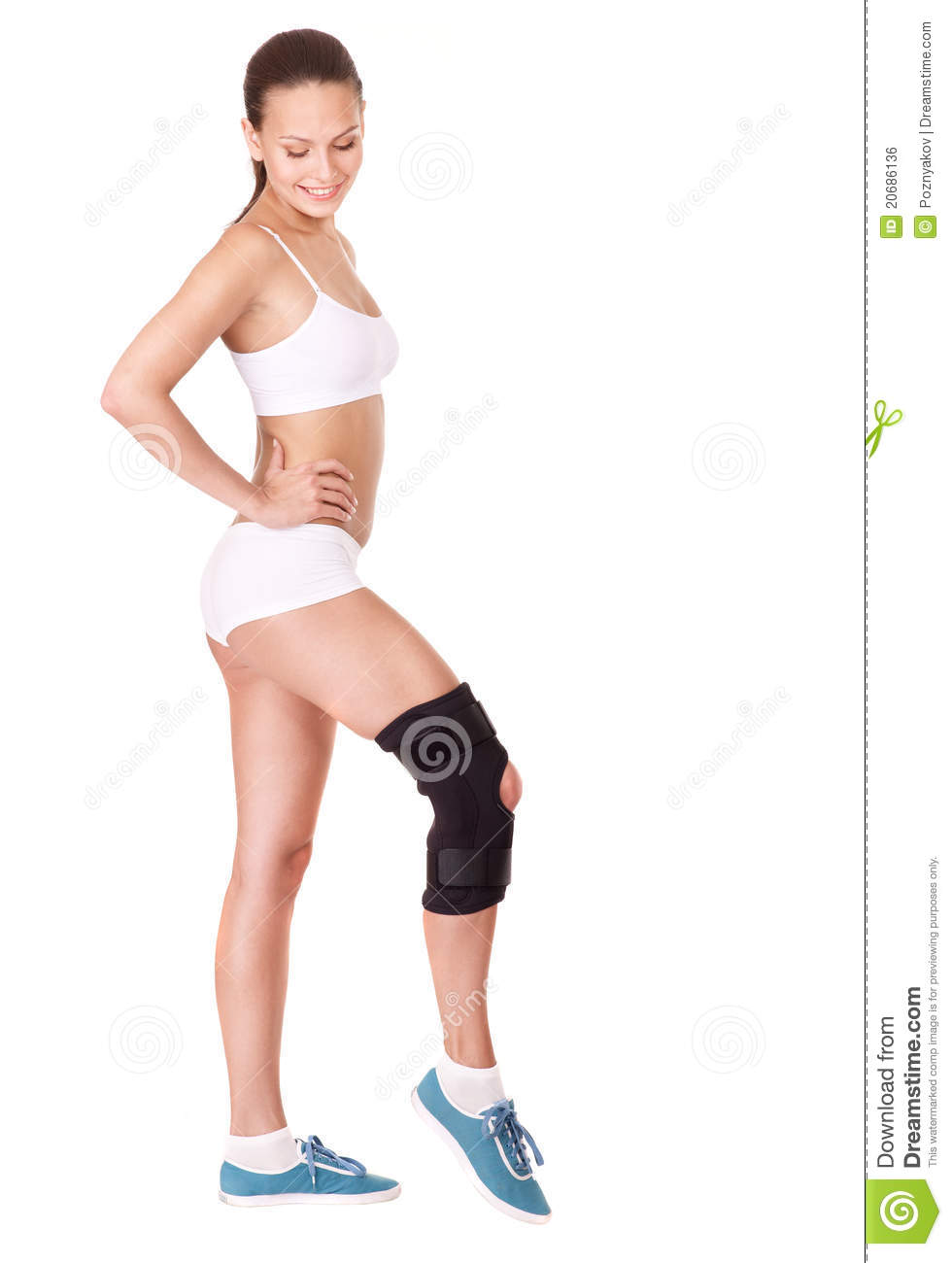 Girl In Knee-high Boots At Autumn Stock Photo ...