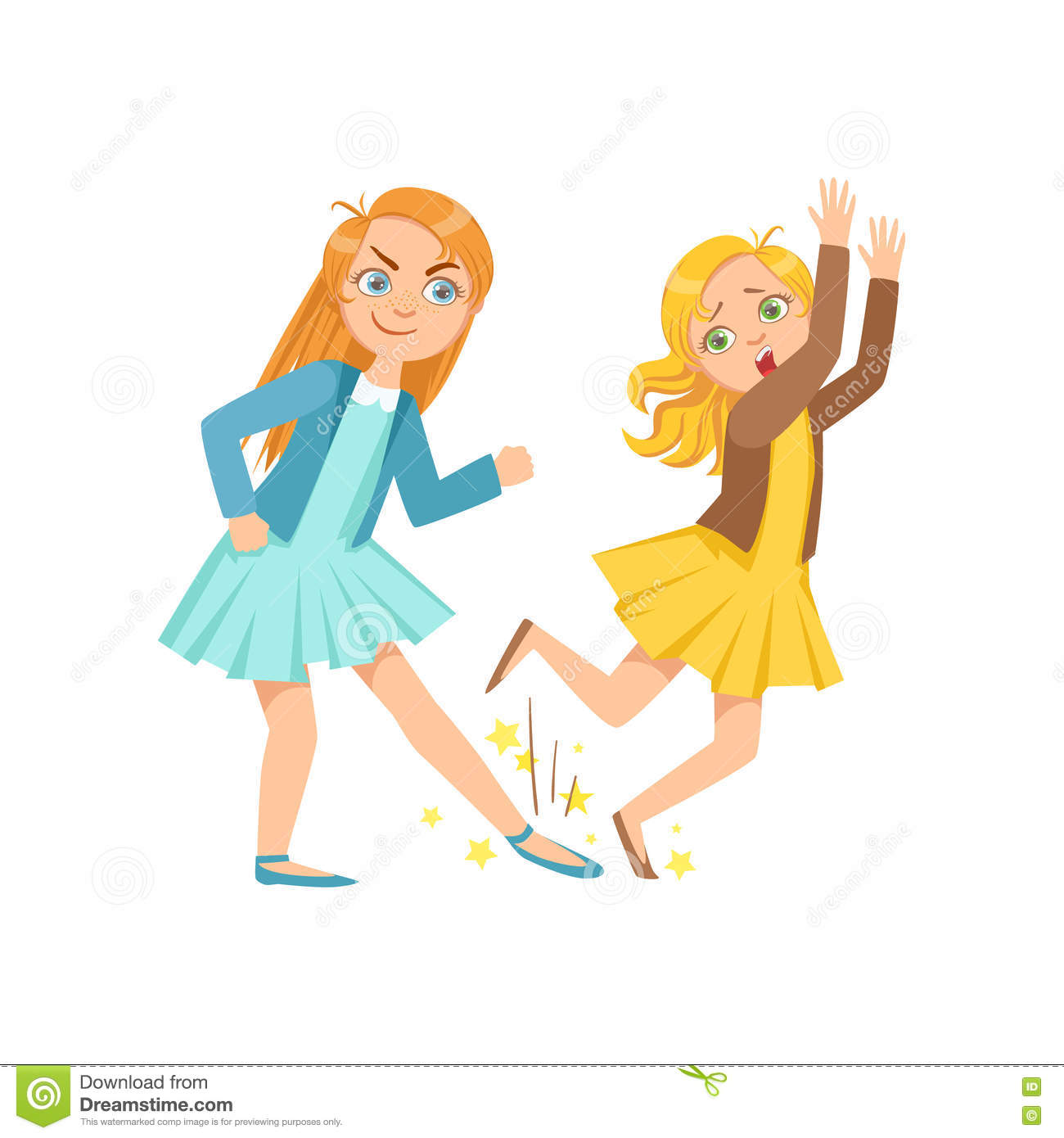 girl tripping smaller kid teenage bully demonstrating mischievous  uncontrollable delinquent behavior cartoon stock vector - illustration of  bully, taller: 81694125  dreamstime.com