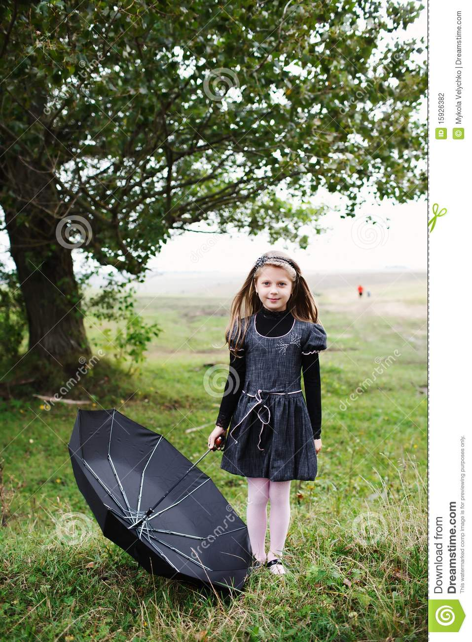 Download Girl with umbrella stock photo. Image of weather, solitude - 15926382