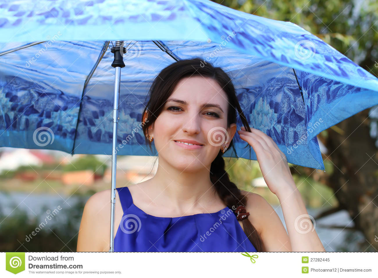 Girl With Umbrella Royalty Free Stock Photo - Image: 27282445