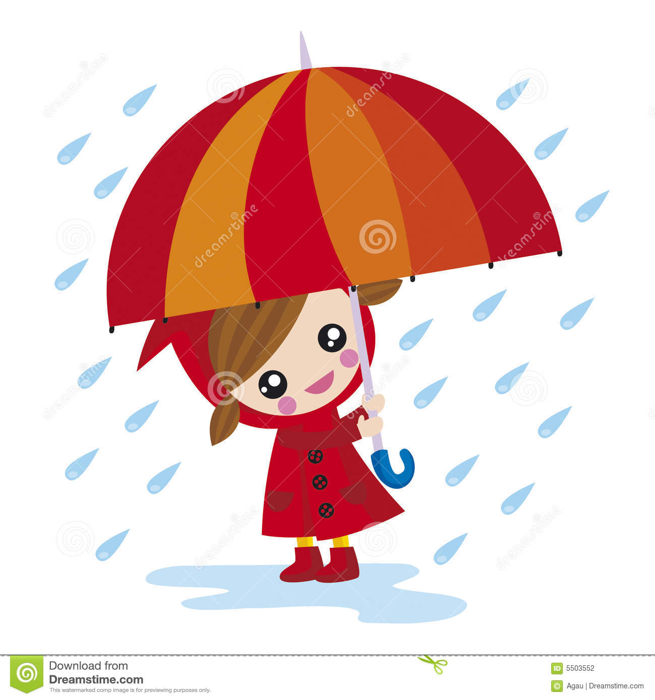 Girl With Umbrella Stock Photography - Image: 5503552