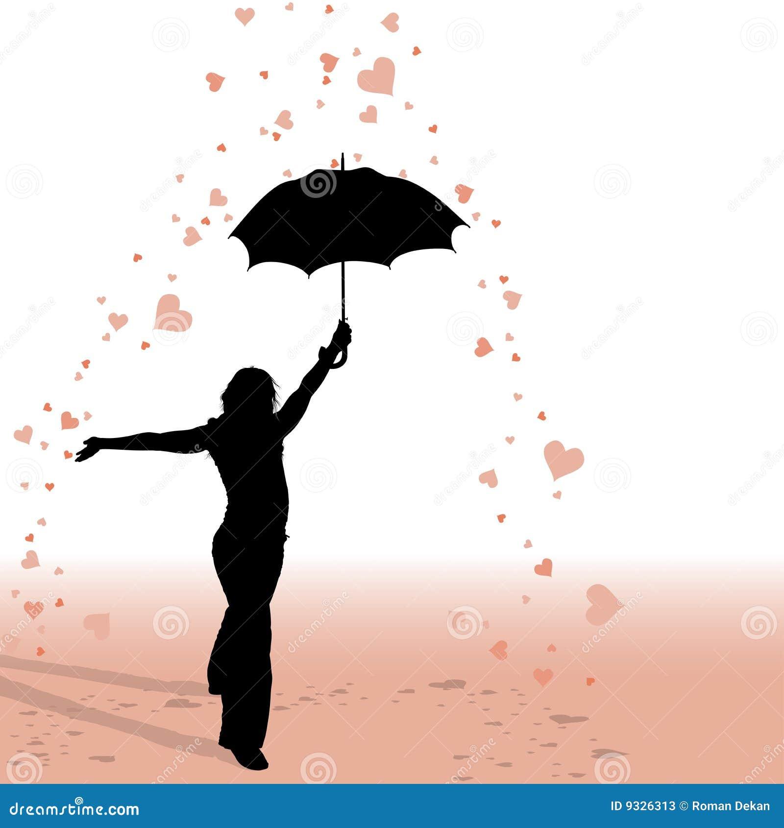 Girl and Umbrella - He...