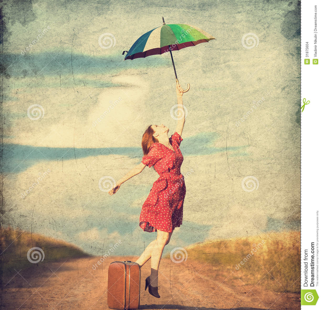 Girl With Umbrella Stock Images - Image: 31875604