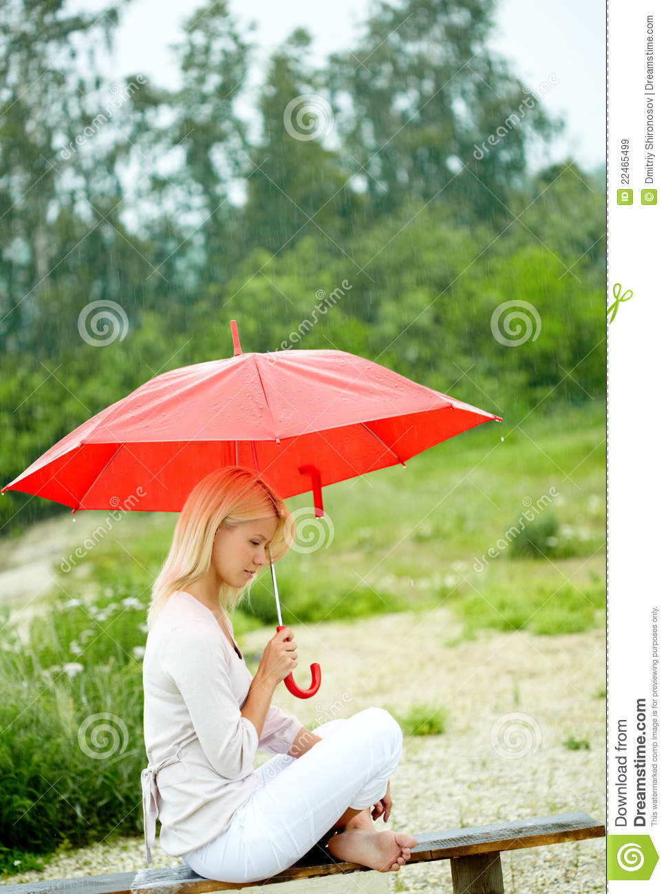 Girl Under Umbrella Royalty Free Stock Images - Image ...