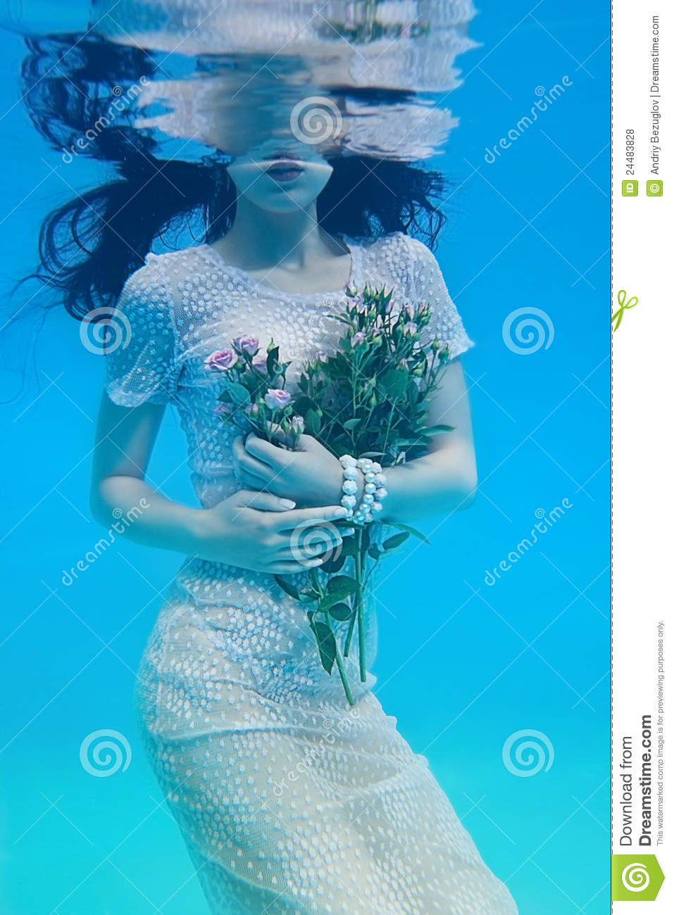 Download Girl under water stock photo. Image of sensuality, fashion - 24483828