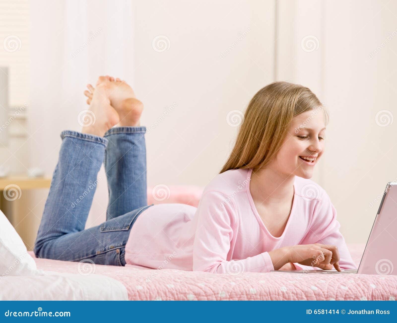 girl using